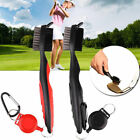 US Golf Club Cleaning Brush & Grooves Cleaner With Retractable Reel 4 Colors