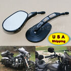 Motorcycle Edge Cut Rear View Side Mirror For Harely Davidson Touring Road King