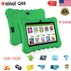 "7"" WIFI 3G Tablet Kids Pad Android 7.1 Quad Core 1+16GB 2*Camera Bundled Case US"