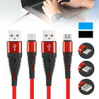3FT Nylon Braided Type C/Micro USB Fast Data Sync Charger Cable Cord For Samsung