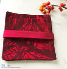 "MARIMEKKO Fabric Coasters Red Pine Print ""Mänty"" Handmade Cotton Nordic Design"