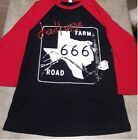 Dead Horse Farm Road 666 Black Jersey w/ Red Sleeve Baseball Ts Limited