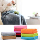 Super Soft Warm Solid Warm Micro Plush Fleece Blanket Throw Rug Sofa Bedding hot image