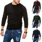 Jack & Jones Herren Strickpullover Basic Sweater Herrenpullover Pulli Unifarben