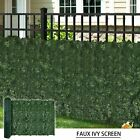 Artificial Faux Ivy Leaf Privacy Fence Screen Cover Home Panels Wall Gate inch