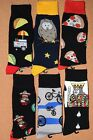 Men's Funky Colorful Novelty Crew Casual Patterned Socks 1 PAIR 10-13