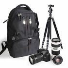 Camera Bag SLR DSLR Case Backpack Water-Resistant For Canon Sony Nikon #e