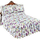 Marlena Lavender and Yellow Floral Bedspread with Ruffled Skirt - Bedroom Decor image