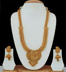Indian Ethnic Gold Traditional Necklace Lord Laxmi Ji Religious Jweelry Set
