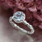 Silver Fashion Finger Zircon Ring Love Jewelry Gift Wedding Party For Woman GIFT