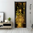 WO_ 2PCS MUSLIM DIY DOOR STICKERS RAMADAN WALL DECAL EID MUBARAK DECORATION CHEE