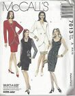 McCalls Sewing Pattern # 7013 Misses Lined Jacket and Unlined Dress Choose Size