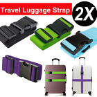 2PCS Travel Luggage Packing Belt Suitcase Strap Baggage Backpack Bag Straps US