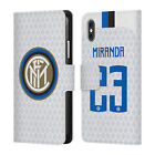 INTER MILAN 2018/19 PLAYERS AWAY KIT GROUP 2 LEATHER BOOK CASE FOR APPLE iPHONE