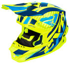 FXR Adult Hi-Vis Yellow/Navy/Blue Blade Throttle Snowmobile Helmet Snow Snocross