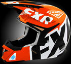 FXR Youth Orange Snowmobile X1 Youth Helmet Snocross