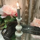 Chic Antique White Cream Candlestick Shabby Wedding Candle Holder Table Stick
