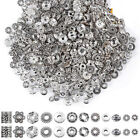 Внешний вид - 50/100X Tibetan Silver Metal Charms Loose Spacer Beads Wholesale Jewelry Making