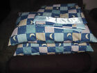 """new cotton blend  blanket 41"""" by 44"""" and two pillow match hand made"""