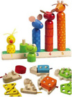 Constructive Playthings CPX-594 Animal Stack & Count/Number Sort Animal Counters