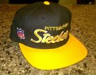 Vintage Pitsburgh Steelers Hat NWT Fitted 7 Sports Specialties Script NFL Rare