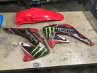 2005 HONDA CR250 SHROUDS AND REAR FENDER - - FREE SHIPPING