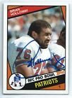 Brian Holloway signed 1984 Topps, New England Patirots football, Stanford #138