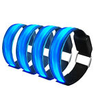 4PCS LED Luminous Reflective Bracelet Wristbands Night Run Safe Waterproof Band