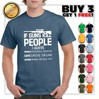 If Guns Kill People T-Shirt 2nd Amendment Gun Rights Funny 2A Mens Tee Shirt image