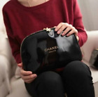 BEAUTIFUL CHANEL LARGE MAKE UP COSMETIC BAG TRAVEL GIFT GENUINE LOWEST EVER DEAL