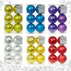 6 MATT SHINY 8CM SHATTERPROOF CHRISTMAS XMAS TREE BAUBLE BALLS DECORATION