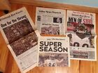 PITTSBURGH STEELER SPORTS SECTIONS- 20 papers 2006 + STEELER FLAG 3X5