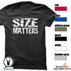 Size Matters Gym Rabbit T-Shirt Workout BodyBuilding Fitness Motivation Tee F047 image