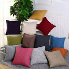 18inch Vintage Solid Color Pillow Case Sofa Waist Throw Cushion Cover Home Decor
