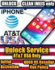 UNLOCK SERVICE USA AT&T iPhone 4000 US Reseller Flex Policy CLEAN Not Found IMEI