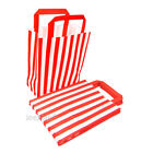 Red Candy Stripe SOS Paper Bags with Handle Gift Shop Celebration Party Pack