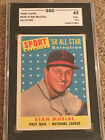 STAN MUSIAL ALL STAR 1958 TOPPS #476 ST LOUIS CRDINALS SGC 45 3.5 HOF Low Priced