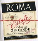 Unused 1940s 116mm CALIFORNIA Fresno ROMA ESTATE ZINFANDEL WINE Label