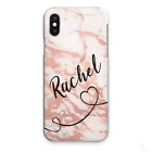 PERSONALISED INITIALS PHONE CASE MARBLE HARD COVER FOR SAMSUNG A3 A5 A7 A8 A9…..