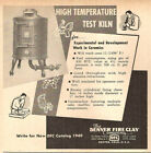 1949 THE DENVER FIRE CLAY HIGH TEMPERATURE TAEST KLIN ORIGINAL AD