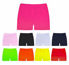 Girls Shorts Neon Hot Pants Stretchy School Dance Gym Shorts New Age 5-13 Years