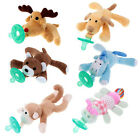 WubbaNub Infant Babys Soothies Dummy Pacifiers with Cuddly Plush Animals