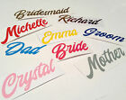 Personalised Name Vinyl Sticker Wedding Decal Water Bottle Wine Glass Lunch Box