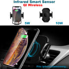 10W Qi Wireless Fast Charger Car Mount Holder Automatic Infrared Sensor Charge