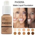 Ladies 30ml PHOERA Matte Oil Control Concealer Liquid Foundation Beauty Portable