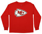 Outerstuff NFL Youth Kansas City Chiefs Long Sleeve Team Logo Tee $14.99 USD on eBay