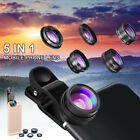 5 in 1 Fish Eye+ Wide Angle + Macro Camera Clip-on Lens for Universal Cell Phone