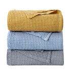 Bedsure 100% Cotton Thermal Blanket Throw Waffle Weave Blankets Soft 405GSM King image