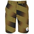 Forever Collectibles NFL Mens Pittsburgh Steelers Diagonal Stripe Walking Shorts