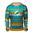 Forever Collectibles NFL Men's Miami Dolphins Hanukkah Ugly Crew Neck Sweater on eBay